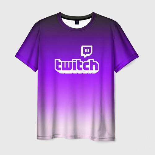 Мужская футболка 3D Twitch
