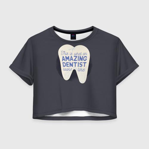 Женская футболка Crop-top 3D Дантист