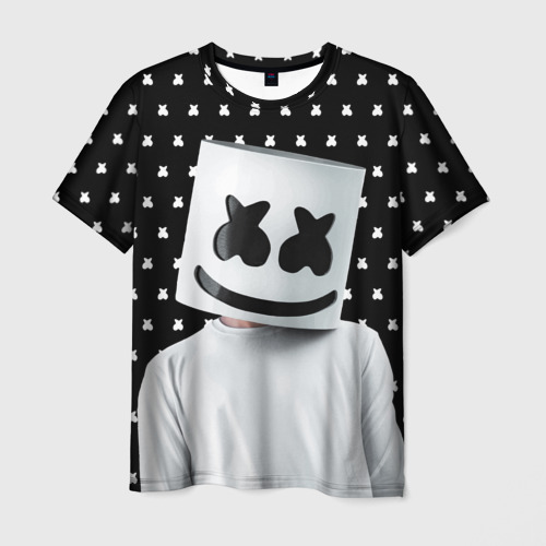 Мужская футболка 3D MARSHMELLO Black