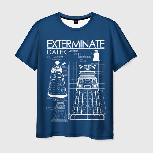 Мужская футболка 3D Доктор Кто. Далек