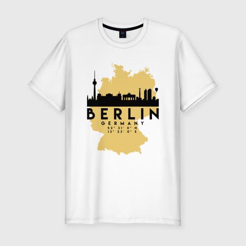 Мужская футболка хлопок Slim Берлин - Германия
