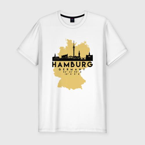 Мужская футболка хлопок Slim Гамбург - Германия