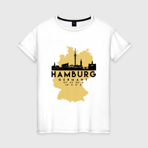 Женская футболка хлопок Гамбург - Германия