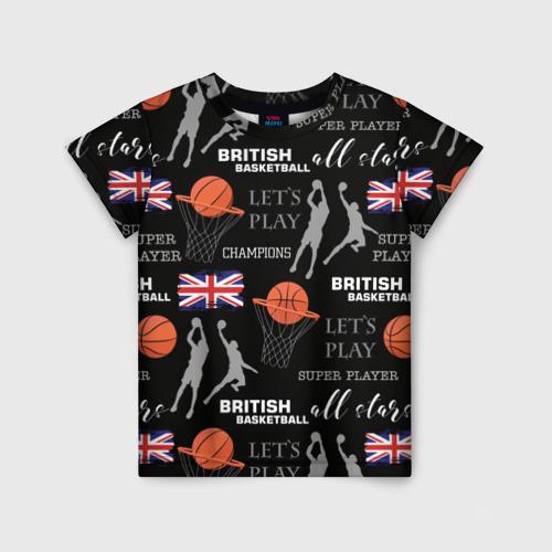Детская футболка 3D British basketball