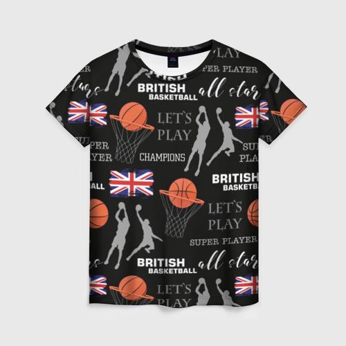 Женская футболка 3D British basketball