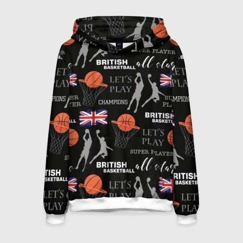 Мужская толстовка 3D British basketball