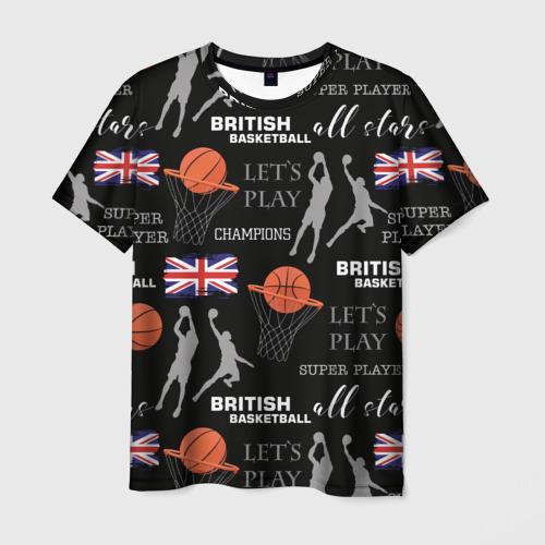 Мужская футболка 3D British basketball