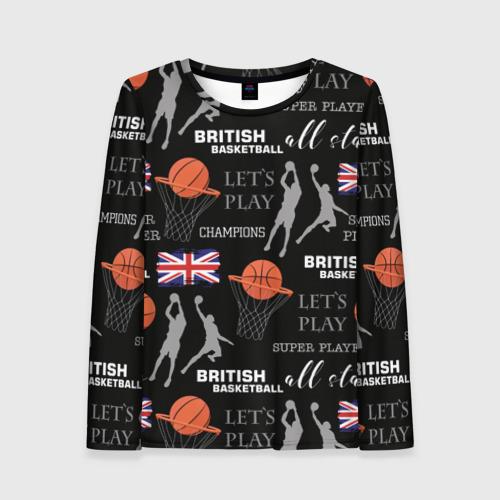 Женский лонгслив 3D British basketball