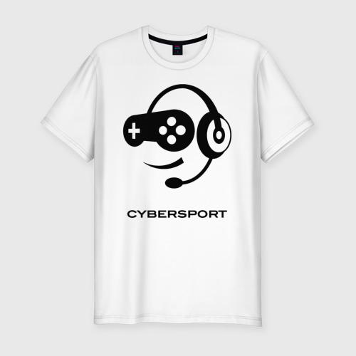 Мужская футболка хлопок Slim CYBERSPORT