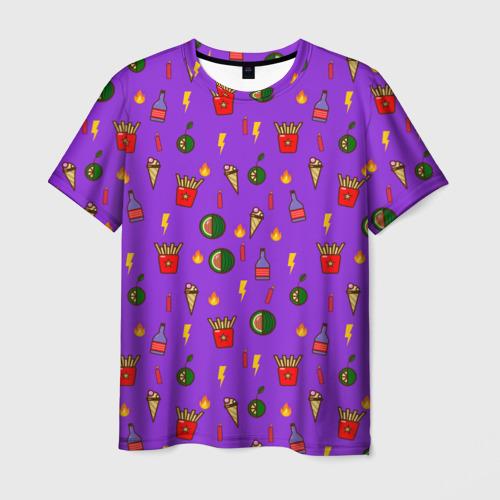 Мужская футболка 3D Слишком много всего 2