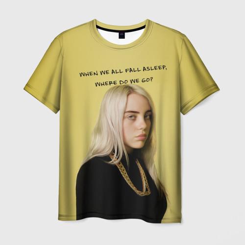 Мужская футболка 3D billie eilish
