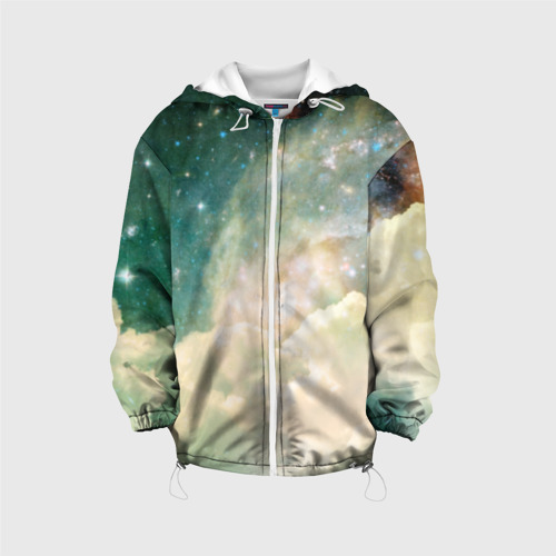 Детская куртка 3D Облачный космос