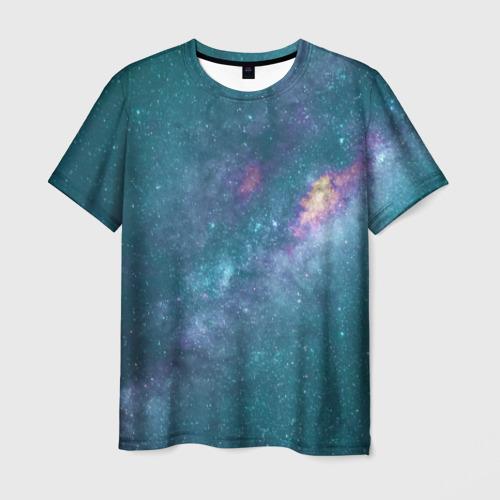 Мужская футболка 3D Млечный путь