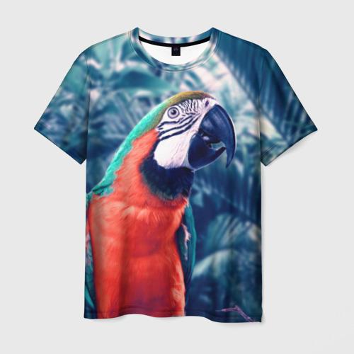 Мужская футболка 3D Попугай