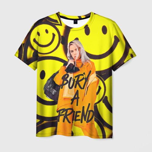 Мужская футболка 3D Billie Eilish Выкинь Друга