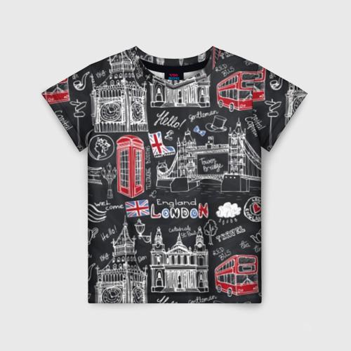 Детская футболка 3D Лондон