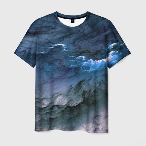 Мужская футболка 3D Дождевые Облака