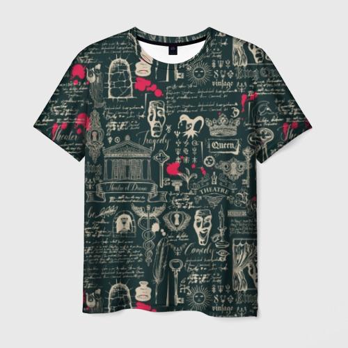 Мужская футболка 3D Театр драмы