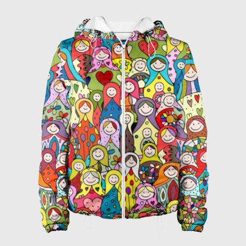 Женская куртка 3D Весёлые матрешки