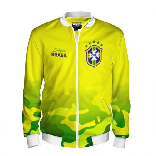 Мужской бомбер 3D Бразилия