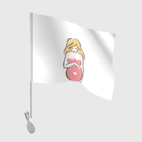Флаг для автомобиля Рождение новой жизни