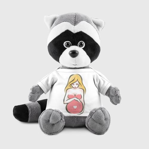 Игрушка Енотик в футболке 3D Рождение новой жизни