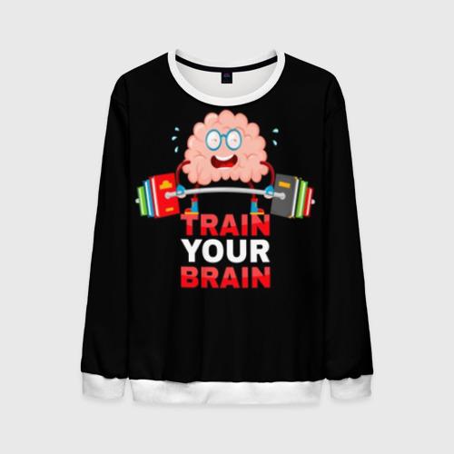 Мужской свитшот 3D Train your brain