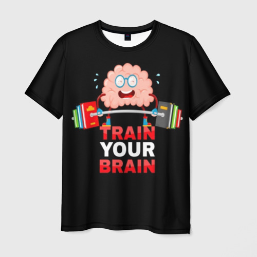 Мужская футболка 3D Train your brain
