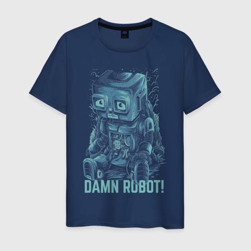 Мужская футболка хлопок Робот