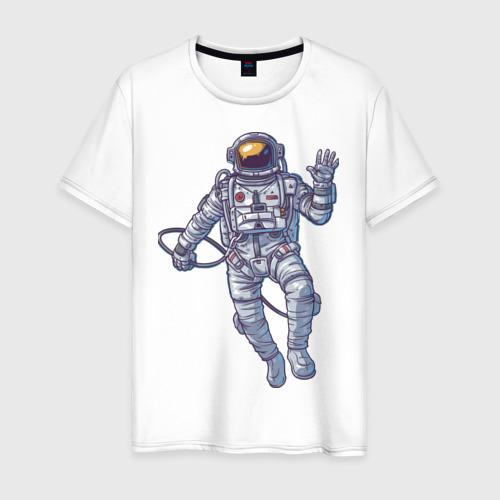 Мужская футболка хлопок Космонавт BIGSPACE