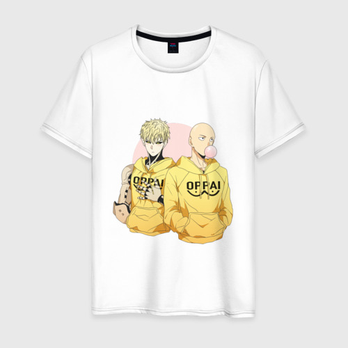 Мужская футболка хлопок Genos and Saitama