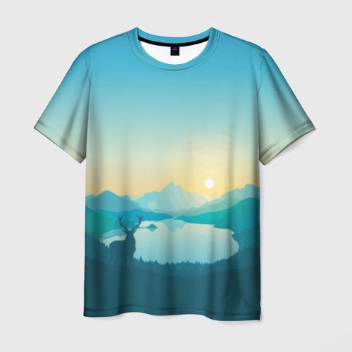 Мужская футболка 3D Векторная природа