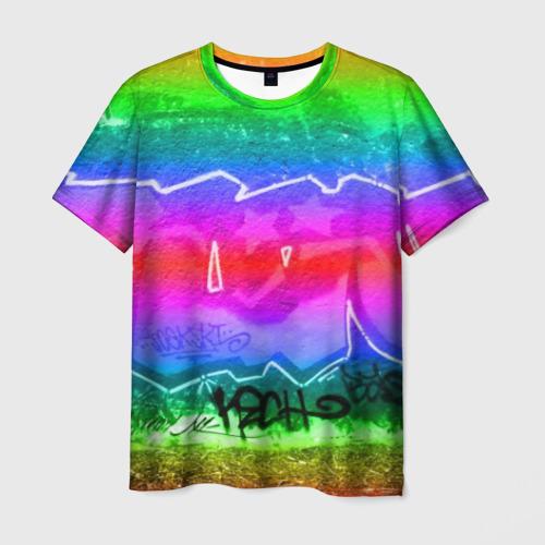 Мужская футболка 3D GRAFFITI NEON