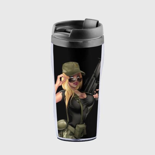 Термокружка-непроливайка Sexy army girl