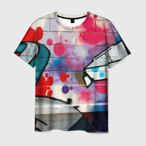 Мужская футболка 3D graffiti