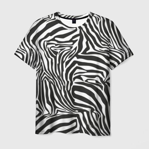 Мужская футболка 3D Полосы зебры