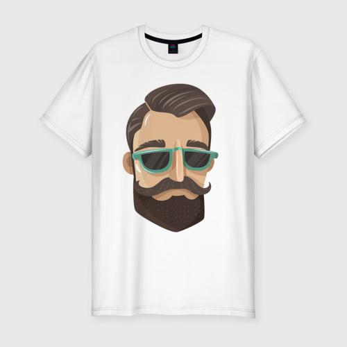 Мужская футболка хлопок Slim BARBER style Барбер стиль