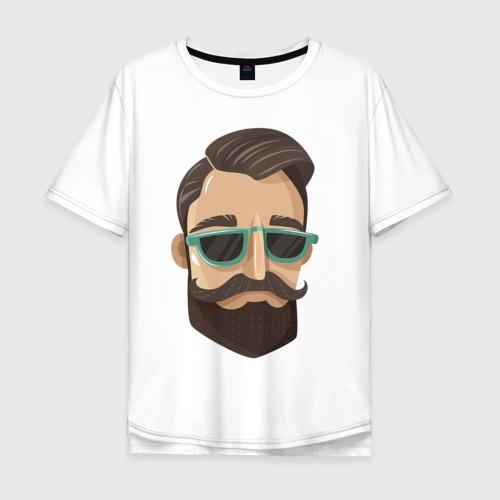 Мужская футболка хлопок Oversize BARBER style Барбер стиль