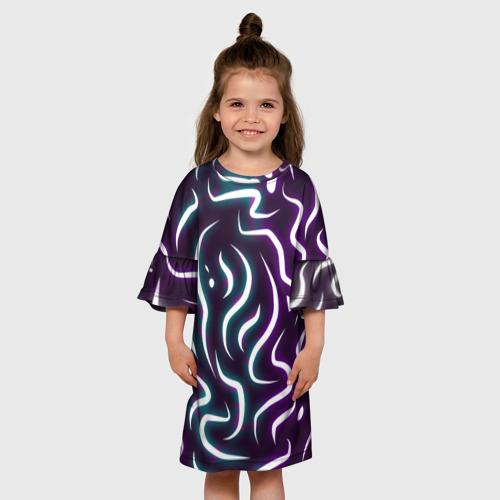 Детское платье 3D Сияние Червей