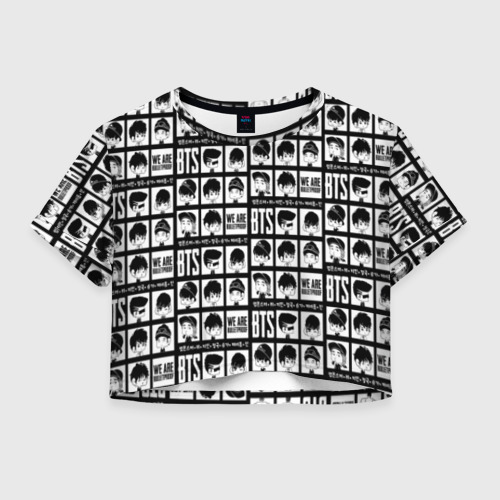 Женская футболка Crop-top 3D BTS Pop art