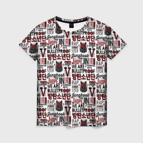 Женская футболка 3D BTS Pop art