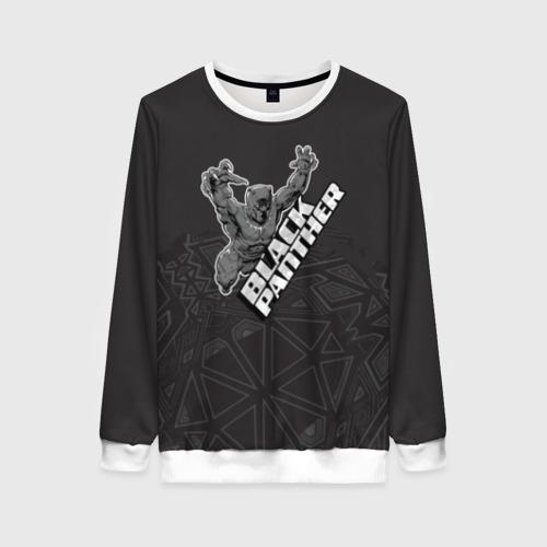 Женский свитшот 3D Black panther