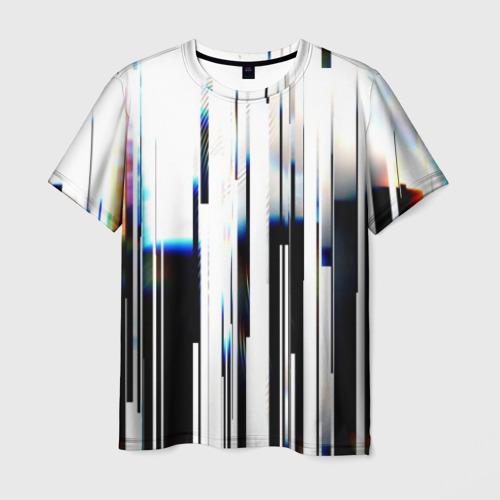 Мужская футболка 3D Абстракция Глитч