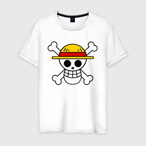 Мужская футболка хлопок One Piece скелет