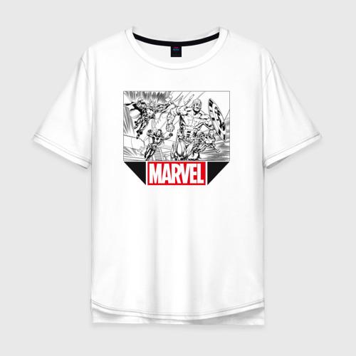 Мужская футболка хлопок Oversize AVENGERS