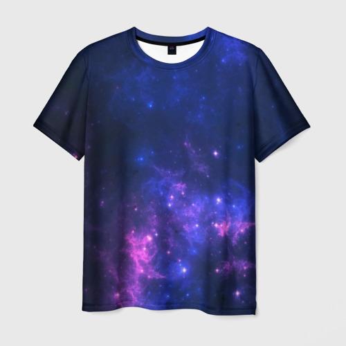 Мужская футболка 3D Неоновый космос