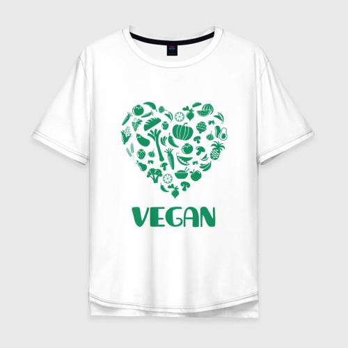Мужская футболка хлопок Oversize Vegan