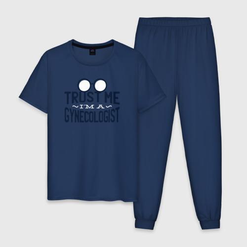 Мужская пижама хлопок Доверься мне, я Гинеколог