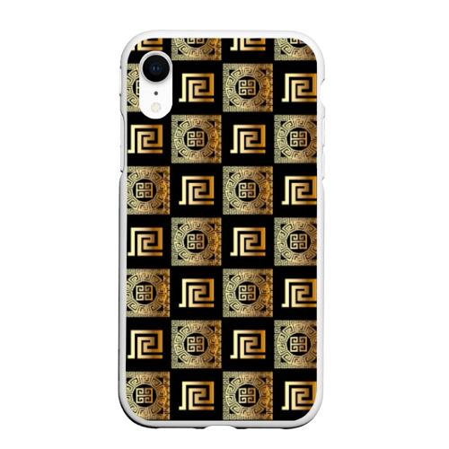 Чехол для iPhone XR матовый gold