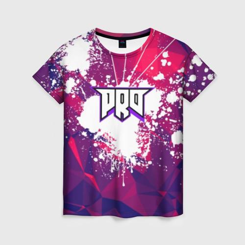 Женская футболка 3D pro100